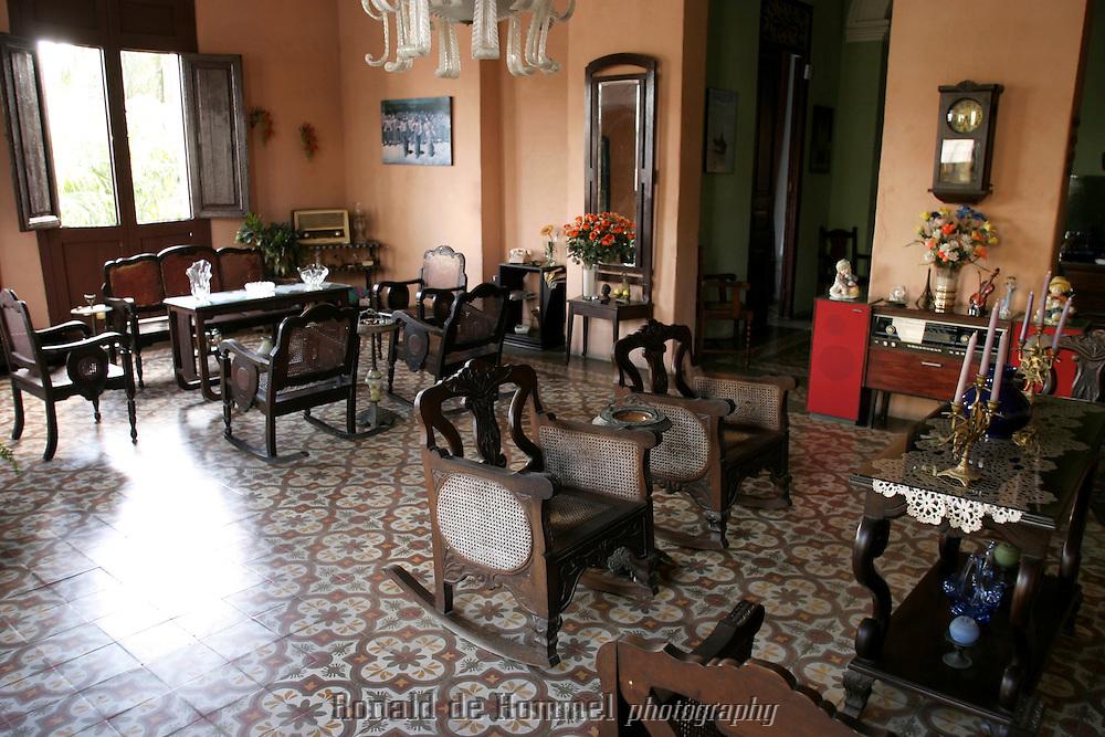 colonial interior of casa Manolo in Camaguay