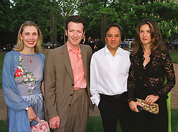 Left to right, MR & MRS ASHLEY HICKS he is the grand son of the late Earl Mountbatten of Burma and MR & MRS ANISH KAPOOR he is the leading sculptor, at a party in London on 7th July 1999.MUC 72