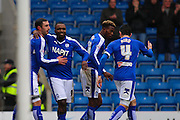 Celebrations at Chesterfield FC forward Lee Novak scores Chesterfield's second goal during the Sky Bet League 1 match between Chesterfield and Crewe Alexandra at the Proact stadium, Chesterfield, England on 20 February 2016. Photo by Aaron Lupton.