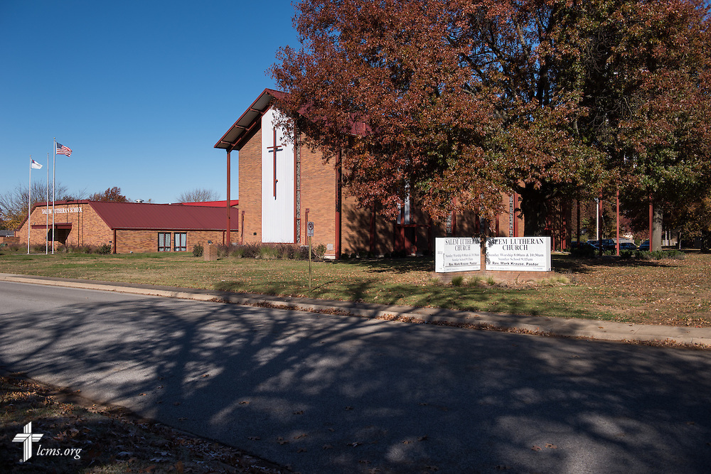 Exterior photograph on Sunday, Nov. 22, 2015, at Salem Lutheran Church in Springdale, Ark. LCMS Communications/Erik M. Lunsford