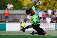 Tahj Bell of Hitchin Town makes a save during the Pre Season Friendly match at Top Field, Hitchin<br /> Picture by David Horn/Focus Images Ltd +44 7545 970036<br /> 17/07/2014