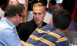 Gustav Engvall of Bristol City mingles with guests during the Lansdown Club event - Mandatory by-line: Robbie Stephenson/JMP - 06/09/2016 - GENERAL SPORT - Ashton Gate - Bristol, England - Lansdown Club -