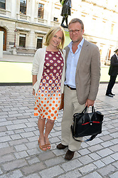 MARIELLA FROSTRUP and JASON McCUE at  the preview party for The Royal Academy Of Arts Summer Exhibition 2013 at Royal Academy of Arts, London on 5th June 2013.