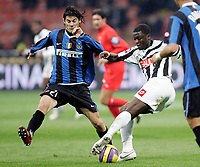 "Santiago Solari (Inter), Sulley Ali Muntari (Udinese)<br /> Italian ""Serie A"" 2006-07<br /> 28 Feb 2007 (Match Day 26)<br /> Inter-Udinese (1-1)<br /> ""Giuseppe Meazza""-Stadium-Milano-Italy<br /> Photographer: Luca Pagliaricci INSIDE"