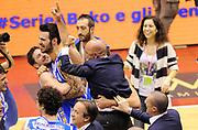 DESCRIZIONE : Milano Coppa Italia Final Eight 2014 Finale Montepaschi Siena Banco di Sardegna Sassari<br /> GIOCATORE : <br /> CATEGORIA : Team Esultanza<br /> SQUADRA : Banco di Sardegna Sassari<br /> EVENTO : Beko Coppa Italia Final Eight 2014<br /> GARA : Montepaschi Siena Banco di Sardegna Sassari<br /> DATA : 09/02/2014<br /> SPORT : Pallacanestro<br /> AUTORE : Agenzia Ciamillo-Castoria/A.Giberti<br /> GALLERIA : Lega Basket Final Eight Coppa Italia 2014<br /> FOTONOTIZIA : Milano Coppa Italia Final Eight 2014 Finale Montepaschi Siena Banco di Sardegna Sassari Predefinita :