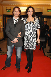 Actor ROBERT CARLYLE and his wife ANASTASIA at the South Bank Show Awards held at The Dorchester, Park Lane, London on 29th January 2008.<br />