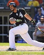 CHICAGO - MAY 24:  Jose Abreu #79 of the Chicago White Sox bats against the Baltimore Orioles on May 21, 2018 at Guaranteed Rate Field in Chicago, Illinois.  (Photo by Ron Vesely)  Subject: Jose Abreu