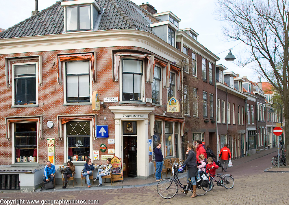 Corner cafe bar pub, Delft, Netherlands