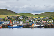 Fishermens' trawlers moored at Campbeltown Port, Isle of Arran, Scotland