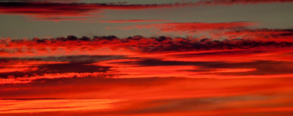 sunset in Ada County Idaho