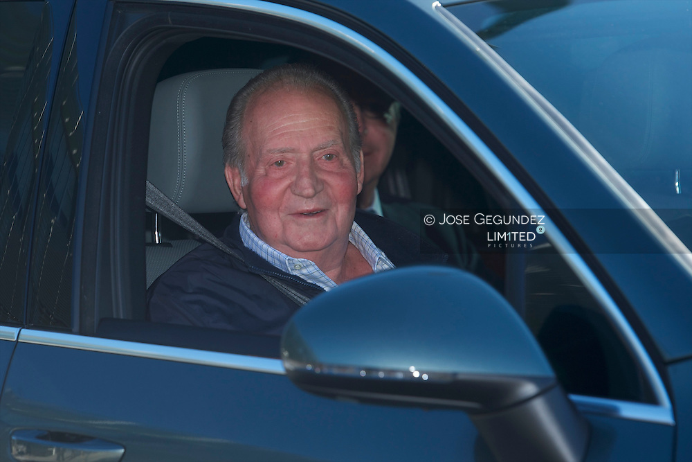 King Juan Carlos of Spain Leaves the Quiron University Hospital on November 25, 2013 in Pozuelo de Alarcon, Spain. The Spanish King is set to undergo surgery to get a final prosthesis on his left hip. The operation will be the King's ninth in three years