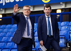 LIVERPOOL, ENGLAND - Saturday, March 12, 2016: Everton's press officer Darren Griffiths and Head of Media and Communications Brian Doogan before the FA Cup Quarter-Final match against Chelsea at Goodison Park. (Pic by David Rawcliffe/Propaganda)