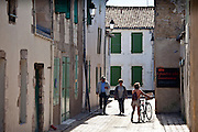 Street scene in La Flotte, Ile de Re, France