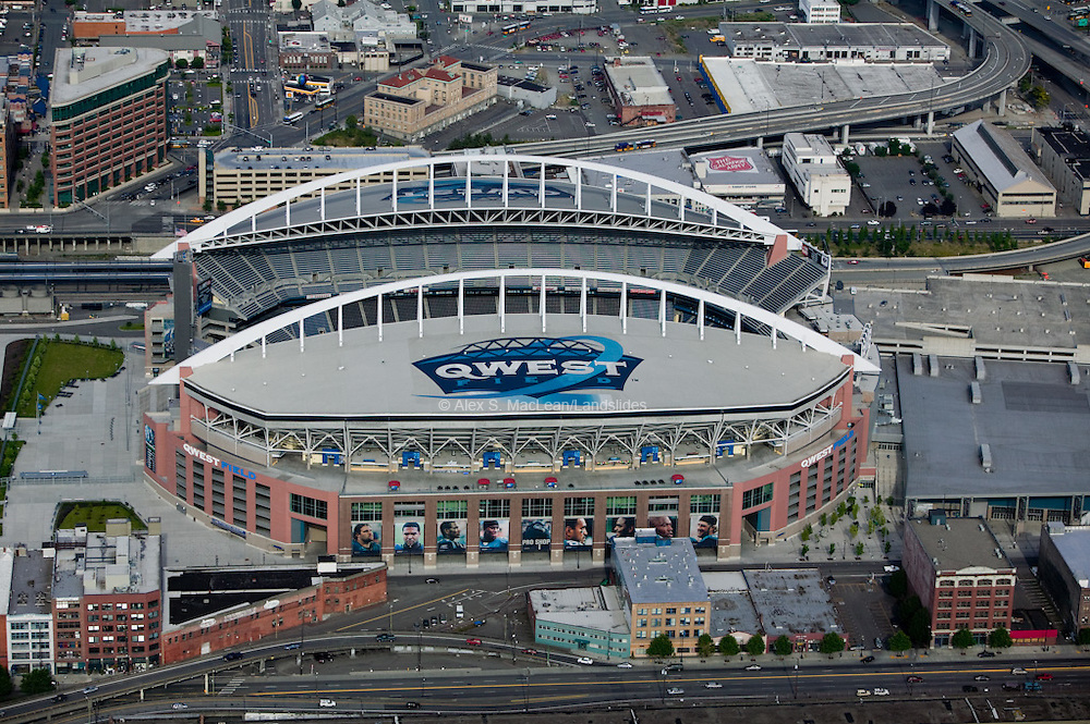 Qwest Field is home to the Seattle Seahawks. The stadium  was designed by Ellerbe Becket & First and Goal, Inc and completed in 2000.