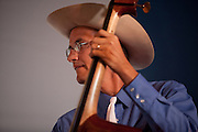Bassist Wally Hersom of the Lucky Stars Western swing band at the Lowell Folk Festival, 25 July 2009