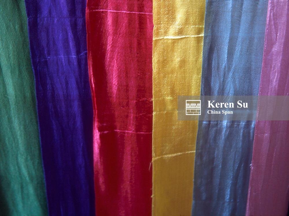 Colorful silk fabric, China