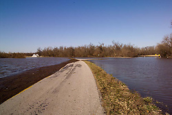 100 Year Flooding of the Bush Creek Marsh Arch Rainbow Bridge and Approach on Old Historic US Route 66 in Riverton, KS on 20 March 2008.