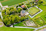 Nederland, Zuid-Holland, Lisse, 28-04-2017; Kasteel Dever of 't Huys Dever, <br /> Dever mansion.<br /> luchtfoto (toeslag op standard tarieven);<br /> aerial photo (additional fee required);<br /> copyright foto/photo Siebe Swart