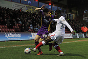 Ryan Jennings and Zane Francis-Angol during the Vanarama National League match between Kidderminster Harriers and Cheltenham Town at Aggborough, Kidderminster, United Kingdom on 26 December 2015. Photo by Antony Thompson.