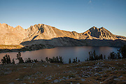 Sunset at Duck Lake in the John Muir Wilderness, near Mammoth Lakes, CA.