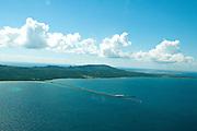 Aerial view of Viecques, Puerto Rico