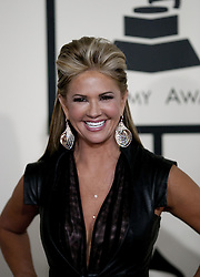 October 8, 2016 - Los Angeles, California, U.S - Nancy O'Dell is the married woman who rejected Donald Trump's advances, according to comments he made in a lewd conversation in 2005 that surfaced Friday October 7, 2016. FILE PHOTO: Nancy O'Dell  on the red carpet of the 57th Grammy Awards at  the Staples Center in Los Angeles, California, Sunday  February 8, 2015. (Credit Image: © Prensa Internacional via ZUMA Wire)