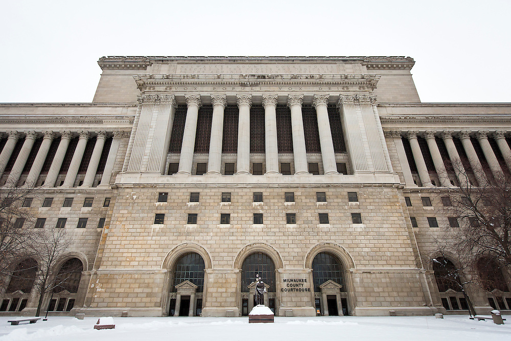 MILWAUKEE, WI – DECEMBER 16: A view of the Milwaukee County Courthouse on Friday, December 16, 2016.