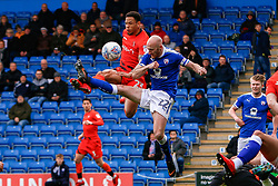 Drew Talbot of Chesterfield and Nathan Tyson of Wycombe Wanderers both attempt to gain possession - Mandatory by-line: Ryan Crockett/JMP - 28/04/2018 - FOOTBALL - Proact Stadium - Chesterfield, England - Chesterfield v Wycombe Wanderers - Sky Bet League Two