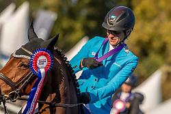 Klimke Ingrid, GER, Asha P<br /> With breeders, Peter van Damme, Joris De Brabander<br /> Mondial du Lion - Le Lion d'Angers 2018<br /> © Hippo Foto - Dirk Caremans<br /> 21/10/2018