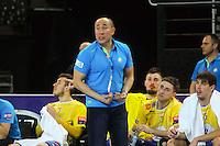 Talant Dujshebaev - 15.03.2015 - Montpellier / Kielce - 1/8Finale aller Ligue des Champions<br /> Photo : Andre Delon / Icon Sport
