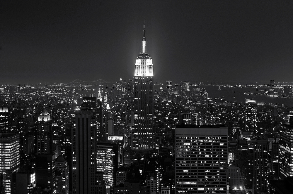 Empire State Building, view from Top of the Rocks Observation Deck, Midtown, Manhattan, New York, New York, USA