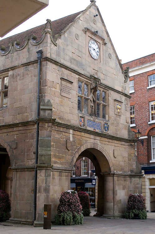 The Market Hall, Shrewsbury town, Shropshire, England