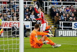 Adam Johnson of Sunderland celebrates scoring the winning goal to make it 0-1 - Photo mandatory by-line: Rogan Thomson/JMP - 07966 386802 - 21/12/2014 - SPORT - FOOTBALL - Newcastle upon Tyne, England - St James' Park - Newcastle United v Sunderland - Tyne-Wear derby - Barclays Premier League.