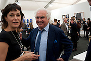 TONY SHAFRAZI, OPENING OF FRIEZE ART FAIR. Regent's Park. London.  12 October 2011. <br /> <br />  , -DO NOT ARCHIVE-© Copyright Photograph by Dafydd Jones. 248 Clapham Rd. London SW9 0PZ. Tel 0207 820 0771. www.dafjones.com.