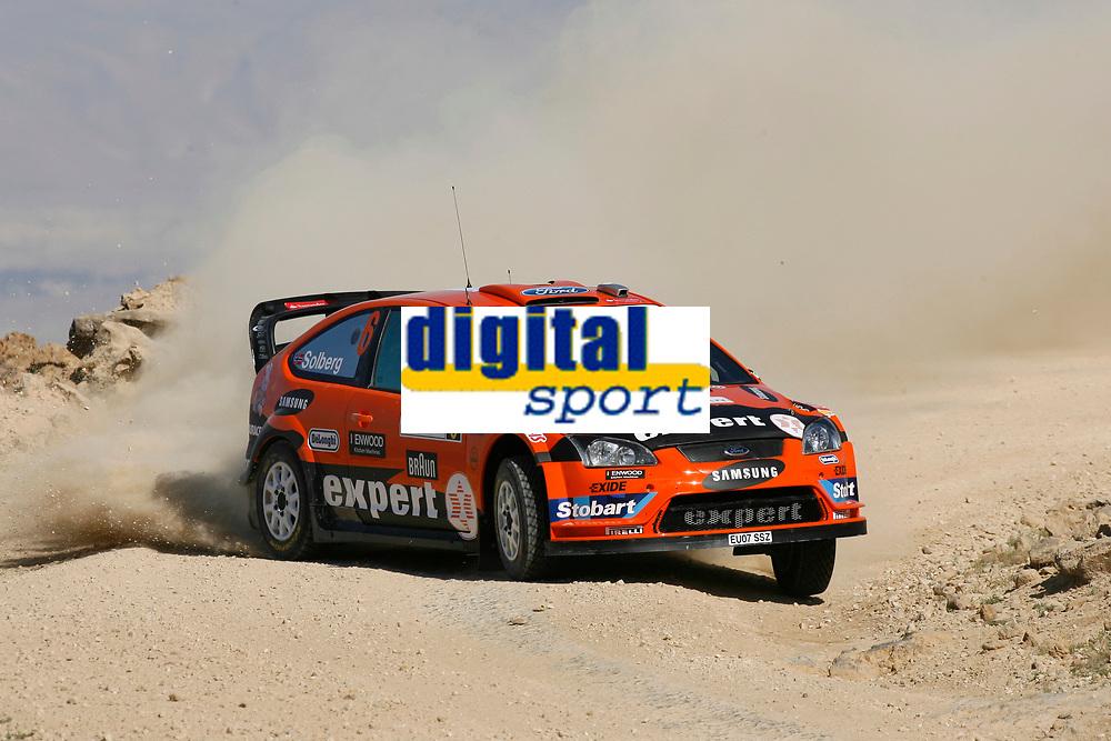 MOTORSPORT - WRC 2010 - JORDAN RALLY - 31/03 TO 03/04/2010 - DEAD SEA (JOR) - PHOTO : FRANCOIS BAUDIN / DPPI - <br /> HENNING SOLBERG (NOR) / ILKA MINOR (AUT) - STOBART MOTORSPORT - FORD FOCUS WRC - ACTION