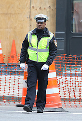 "Priyanka Chopra and Blair Underwood are pictured filming ""Quantico"" on SuperBowl weekend in Manhattan's TriBeCa neighborhood. 04 Feb 2018 Pictured: Blair Underwood. Photo credit: LRNYC / MEGA TheMegaAgency.com +1 888 505 6342"