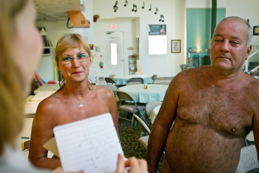 Joe and Dorothy Issel had their first nudist experience last year at Sun Meadow Family Nudist Resort and have now become regulars to the retreat located south of Worley.