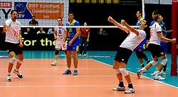 22-09-2013 VOLLEYBAL: EK MANNEN NEDERLAND - SLOVENIE: HERNING<br /> Nederland wint met 3-1 van Slovenie en plaatst zich voor de volgende ronde / Vreugde is groot bij de uitblinkers Nico Freriks , Robin Overbeeke<br /> ©2013-FotoHoogendoorn.nl<br />  / SPORTIDA