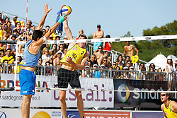 20140607 ITA: EK Beachvolleybal, Cagliari<br /> Paolo Nicolai (ITA), Christiaan Varenhorst, Jon Stiekema<br /> ©2014-FotoHoogendoorn.nl / Pim Waslander