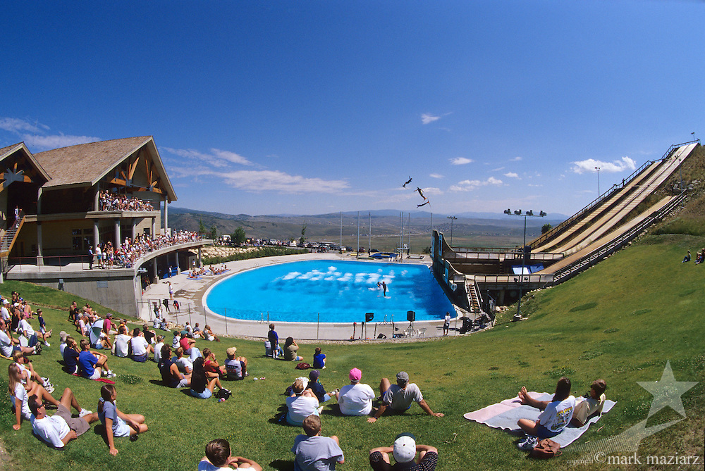 freestyle aerial splash pool at Utah Olympic Park in Park City, Utah