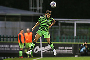 Forest Green Rovers Dominic Bernard(3) heads the ball during the Leasing.com EFL Trophy match between Forest Green Rovers and Coventry City at the New Lawn, Forest Green, United Kingdom on 8 October 2019.