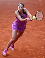 Madison Keys during the Madrid Open at Manzanares Park Tennis Centre, Madrid<br /> Picture by EXPA Pictures/Focus Images Ltd 07814482222<br /> 02/05/2016<br /> ***UK &amp; IRELAND ONLY***<br /> EXPA-ESP-160502-0106.jpg