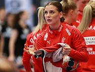Mie Højlund fra Danmark under VM-playoff-kampen mellem Danmark og Schweiz i Roskilde Kongrescenter Bauhaus Arena, den 1.6.2019. Photo Credit: Allan Jensen/Søren Tidemann/EVENTMEDIA.