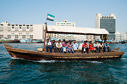 traditional Abra ferry on The Creek river in Dubai United Arab Emirates UAE