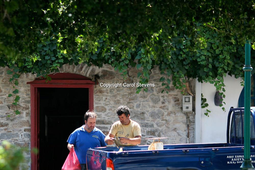 The Fish Van at Livadia, Tilos, Dodecanese, Greece