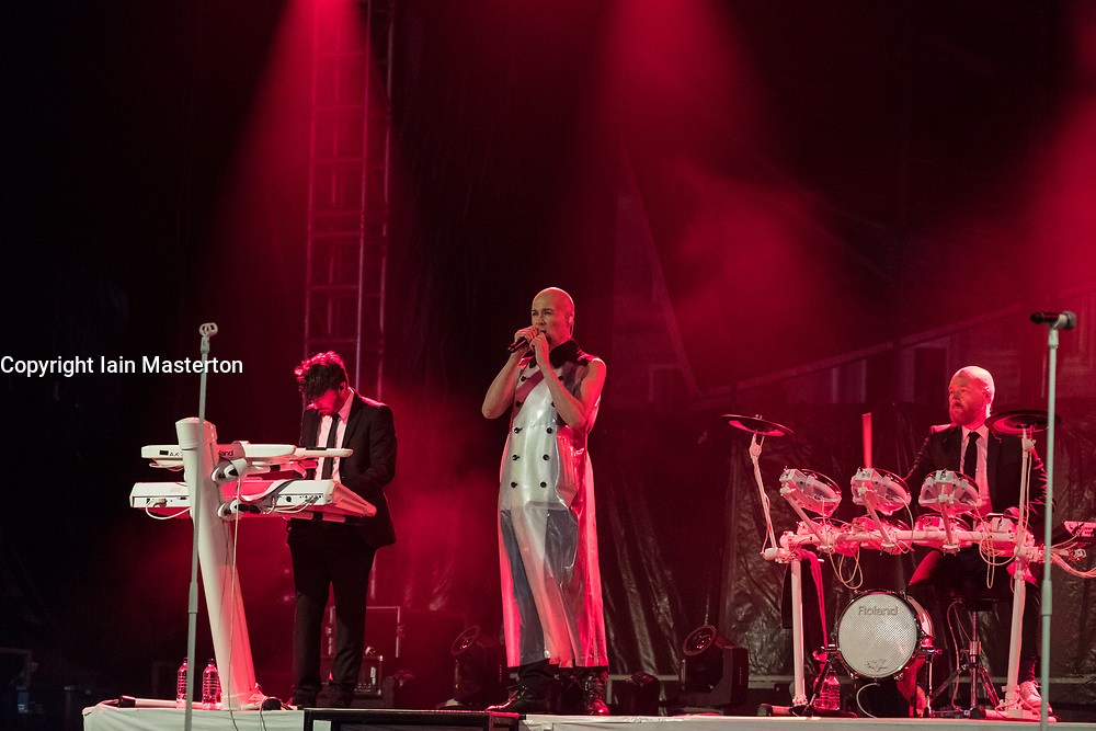Edinburgh, Scotland, United Kingdom. 31 December 2017. The Human League perform during annual New Year of Hogmanay celebrations in the city.