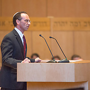 Consul General of Israel to New England Yehuda Yaakov is seen at the CJP and JCRC Community Memorial Service for the murdered Israeli teens at Temple Beth Elohim on July 2, 2014 in Wellesley, Massachusetts. (Photo by Elan Kawesch)