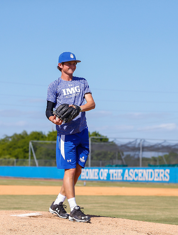 The IMG baseball team practices in Bradenton, Fla., on Monday, October 19, 2015. IMG is the world's largest and most advanced multi-sport and education complex for youth, collegiate, professional and adult athletes. / (October 19, 2015; IMG Photo by Casey Brooke Lawson)