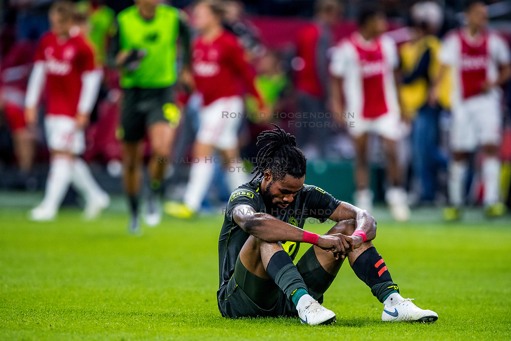 14-08-2018 NED: Champions League AFC Ajax - Standard de Liege, Amsterdam<br /> Third Qualifying Round,  3-0 victory Ajax during the UEFA Champions League match between Ajax v Standard Luik at the Johan Cruijff Arena / Christian Luyindama #26 of Standard Liege
