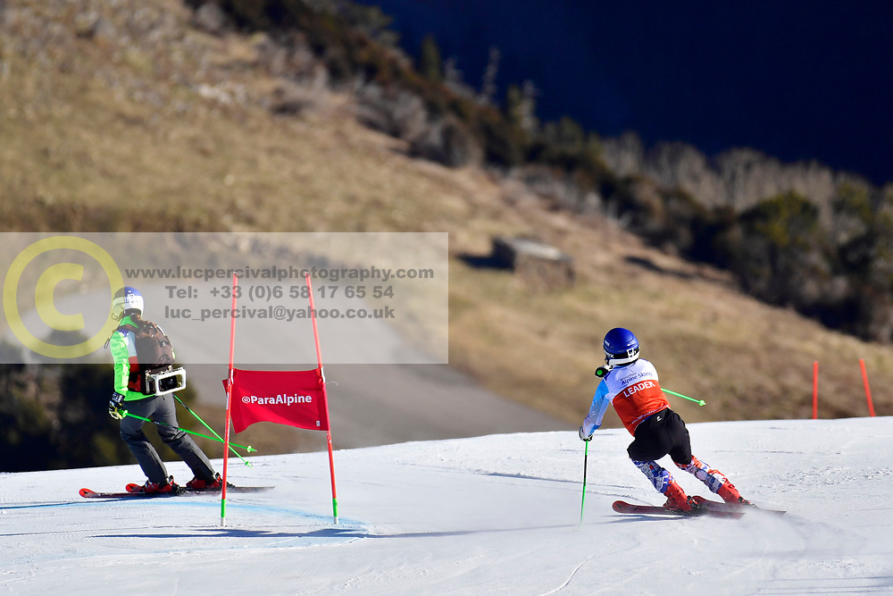 KUBACKA Marek, Guide: ZATOVICOVA Maria, B1, SVK, Giant Slalom at the WPAS_2019 Alpine Skiing World Cup, La Molina, Spain
